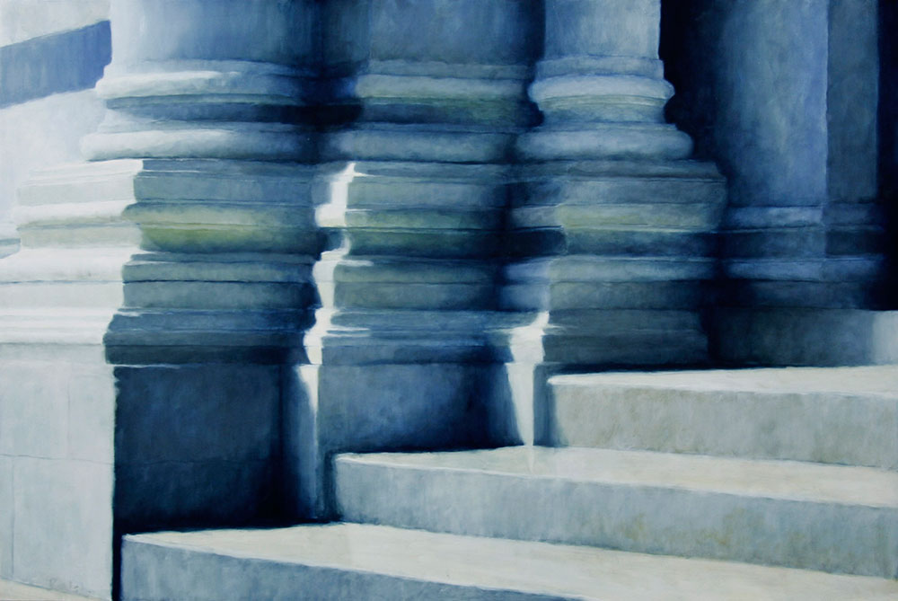 """Baptistry at Pisa"", oil, 30"" x 45"", sold"