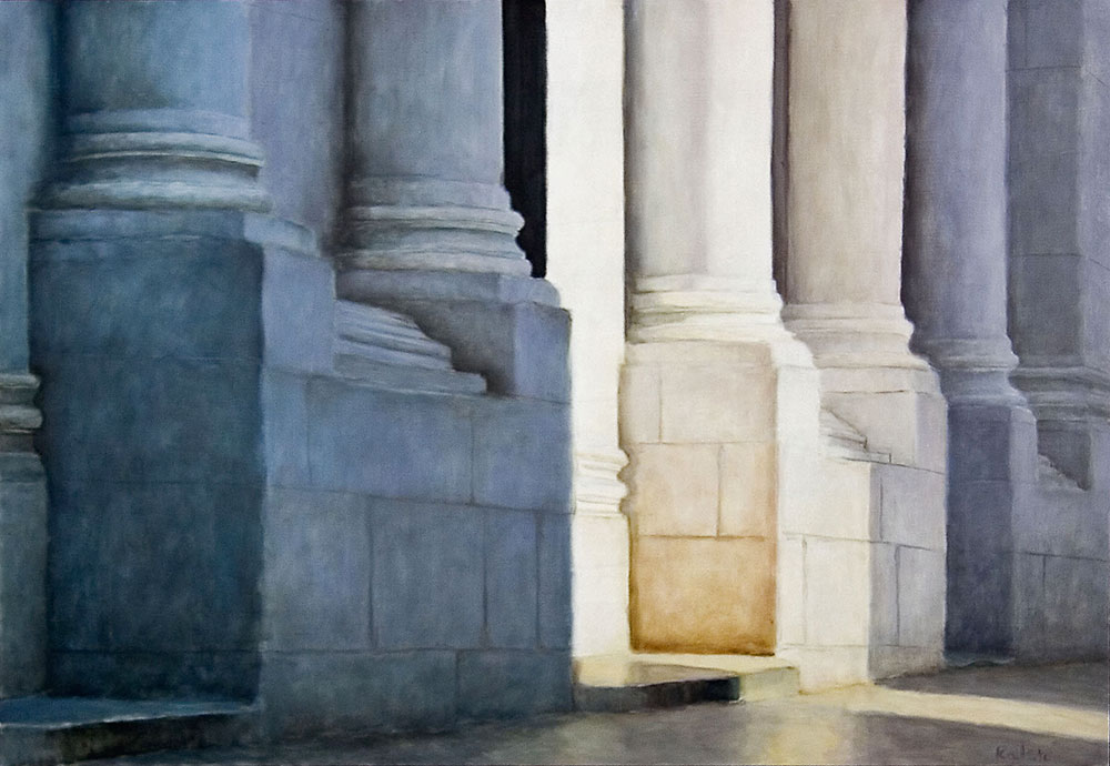 """San Michele, Lucca"", oil, 22"" x 32"", sold"