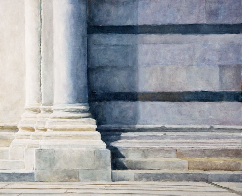 """Baptistry at Pisa"", oil, 24"" x 30"", sold"
