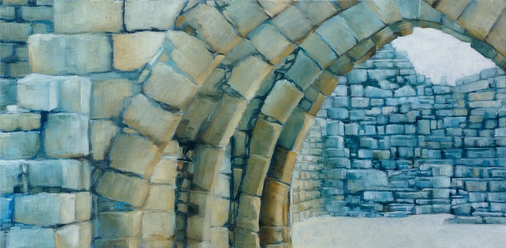"""Archway"", oil on canvas, 12"" x 24"""